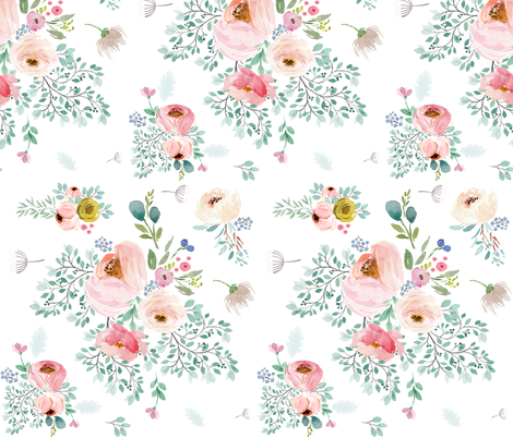 "10.5"" April Love / Full Bloom fabric by shopcabin on Spoonflower - custom fabric"