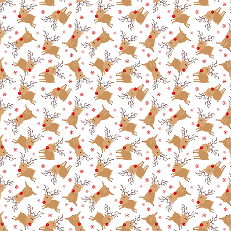 Tiny Reindeer fabric by jannasalak on Spoonflower - custom fabric