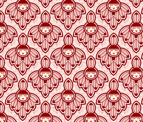 Earth Red Native motif fabric by hannafate on Spoonflower - custom fabric