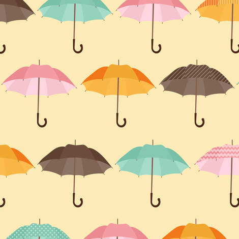 Remember Your Umbrella fabric by jannasalak on Spoonflower - custom fabric