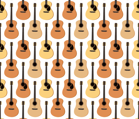 Acoustic Guitars fabric by jannasalak on Spoonflower - custom fabric