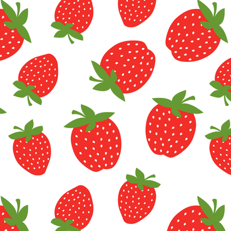 Red Strawberry fabric by jannasalak on Spoonflower - custom fabric