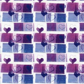 Purple heart pattern