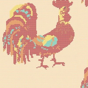 Year of the Rooster cross stitch