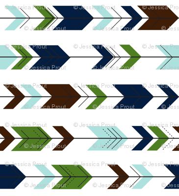 fletching arrows (90) || green/navy