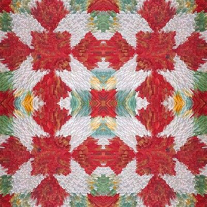 Crazy Red Quilt