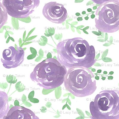 soft floral purple watercolor flower