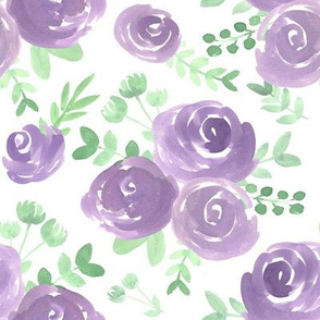 soft floral purple watercolor flower