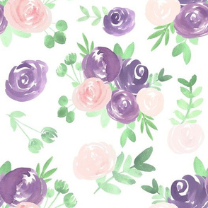soft floral purple pink watercolor flower