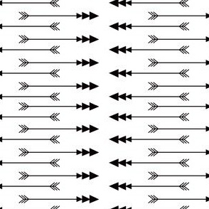 Black + White Arrows -n- Stripes