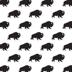 Buffalo Repeat in Black + White