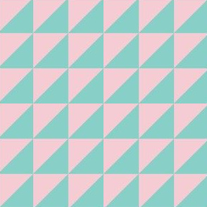 Geo Triangles in Pink + Atomic Mint