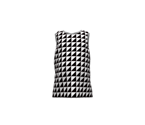Geo Triangles in Black + White