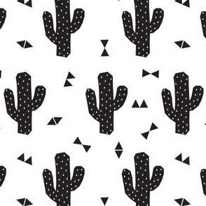 Geo Cactus in Black + White