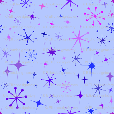 Atomic Starry Night in Purple