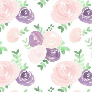soft floral pink purple watercolor flower