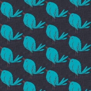 Blue Bird Navy Linen
