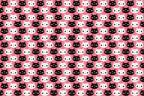 Luna and Artemis fabric by emandsprout on Spoonflower - custom fabric