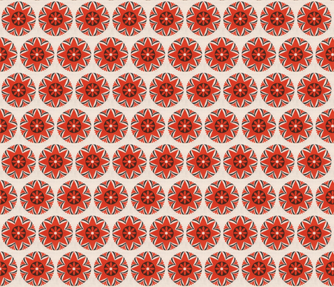 mid century floral fabric by hollywood_royalty on Spoonflower - custom fabric