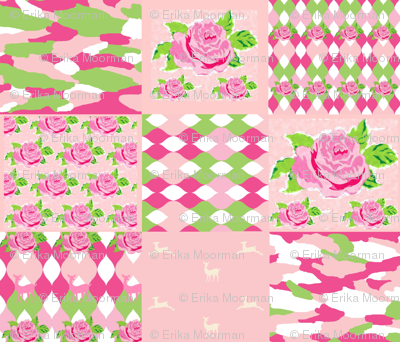 Spring Bouquet 1412 - whole cloth