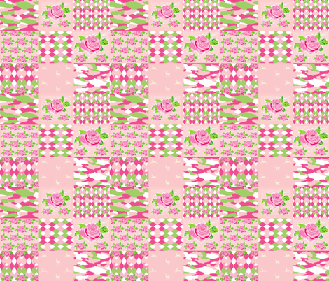 Spring Bouquet 1412 - whole cloth  fabric by drapestudio on Spoonflower - custom fabric
