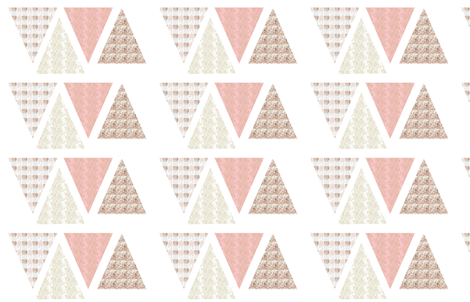 bunting_cut_out_on_wallpaper fabric by karenharveycox on Spoonflower - custom fabric