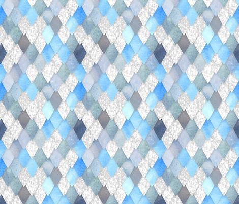 Ice Dragon fabric by washburnart on Spoonflower - custom fabric