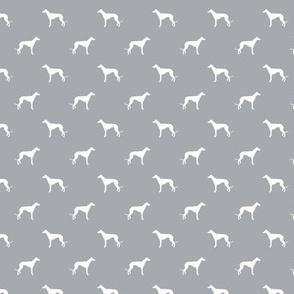 quarry grey greyhound - smaller version greyhound silhouette fabric
