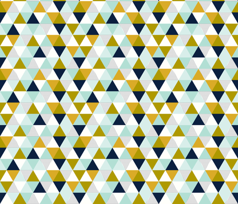 Aqua Adventurer Triangles fabric by ivieclothco on Spoonflower - custom fabric