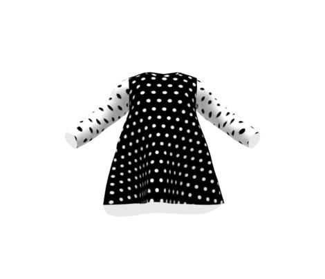 Classic White Polka Dots in Black