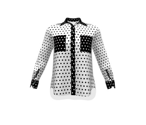 Classic Black Polka Dots in White