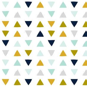 Hand Drawn Triangles // Aqua Adventurer