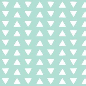 aqua hand drawn triangles