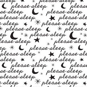 Please Sleep in Black + White