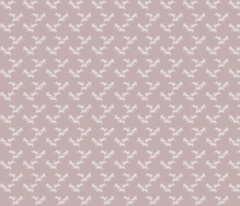 Running Rabbits Pink Linen fabric by blackwooddesign on Spoonflower - custom fabric