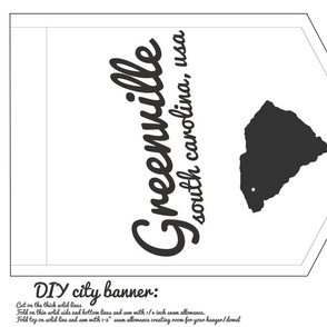 DIY cut and sew banner - Greenville South Carolina