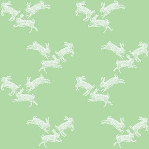 Running_Rabbits_Green_Linen