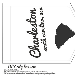 Charleston south carolina diy cut and sew banner