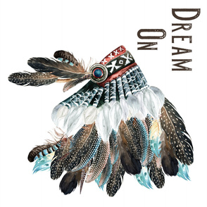 Dream On Headdress Brown / Blue & Red / Baby Boy