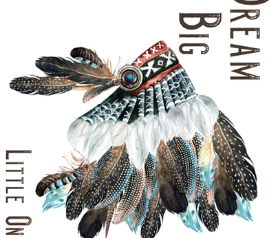 Dream Big Little One 90 Degrees Headdress Blue / White / Red fabric by shopcabin on Spoonflower - custom fabric