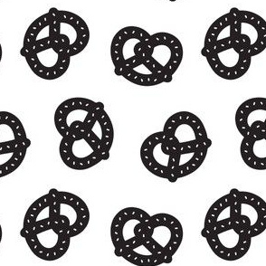 Postmodern Pretzels in Black + White