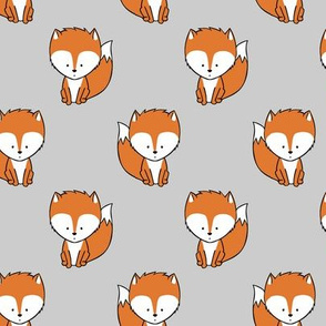 baby fox || orange and grey