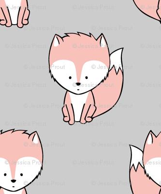 baby fox    v3 on grey