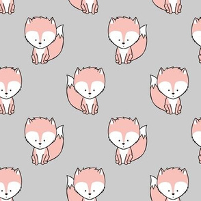 baby fox || v3 on grey
