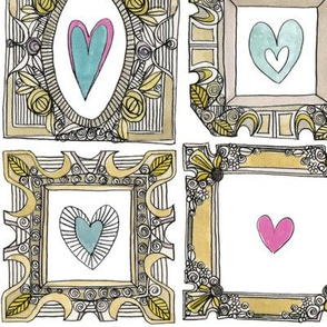 love heart frames