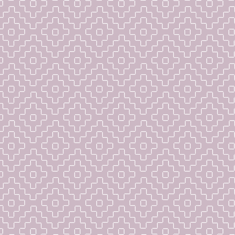 faux sashiko plus on mauve fabric by weavingmajor on Spoonflower - custom fabric