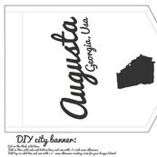 augusta georgia diy cut and sew banner