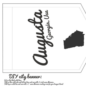 augusta georgia diy cut and sew banner