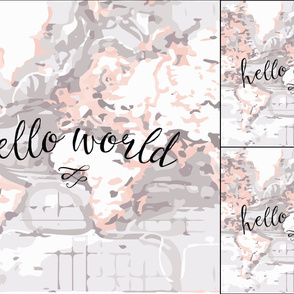 1 blanket + 2 loveys: blush hello world