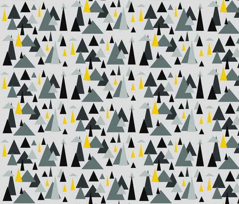 Grey triangle landscape-ch fabric by dnbmama on Spoonflower - custom fabric